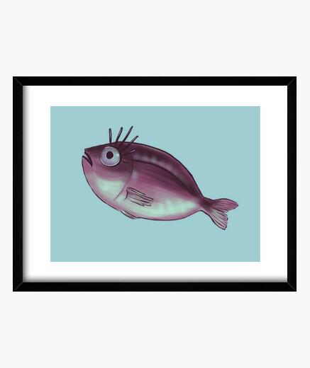 Cuadro divertido pez con elegantes pestañas