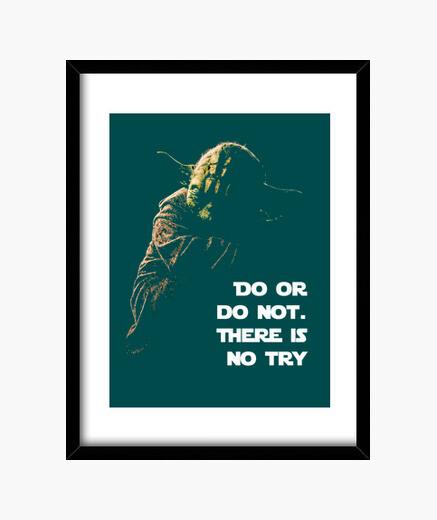 Cuadro Do or do not - Yoda