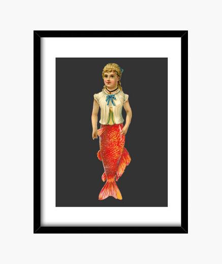 Quadro donna pesce