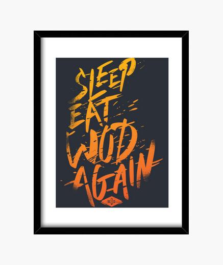 Cadre dormir, manger, wod vol à nouveau. 2