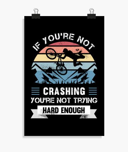 Poster drôle de cadeau de cycliste vtt VTT