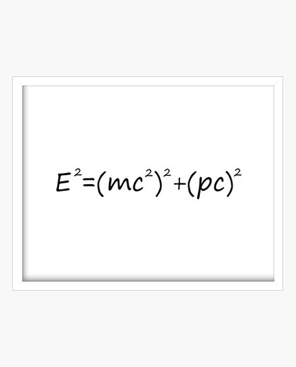 Cuadro E2=(mc2)2+(pc)2