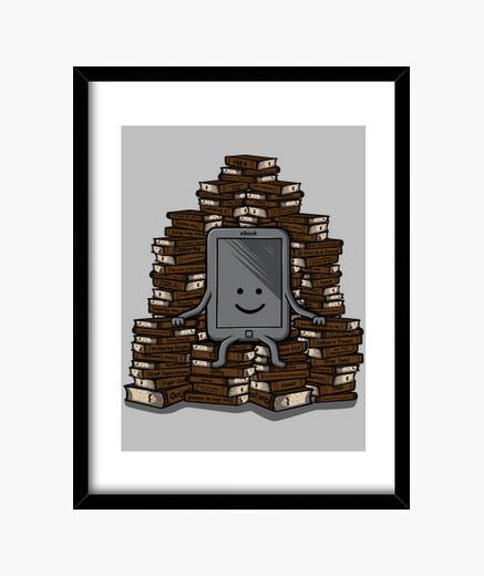 Ebook throne framed print