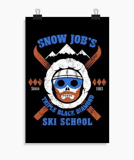 Poster école de ski de l39emploi de neige