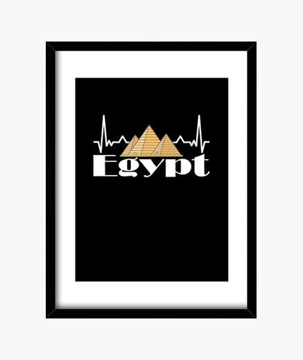 Cuadro egipto vacaciones atardecer retro