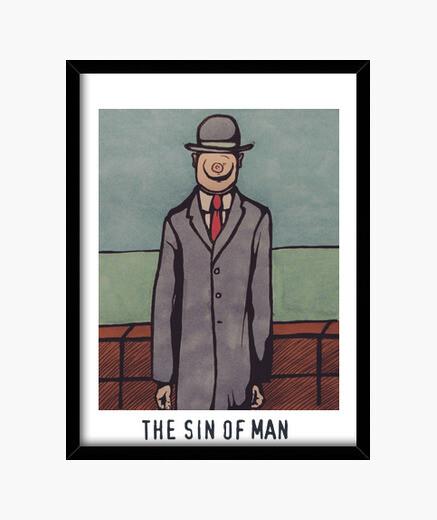 Cuadro El pecado del hombre - The sin of Man (René Magritte - Le fils de l'homme)