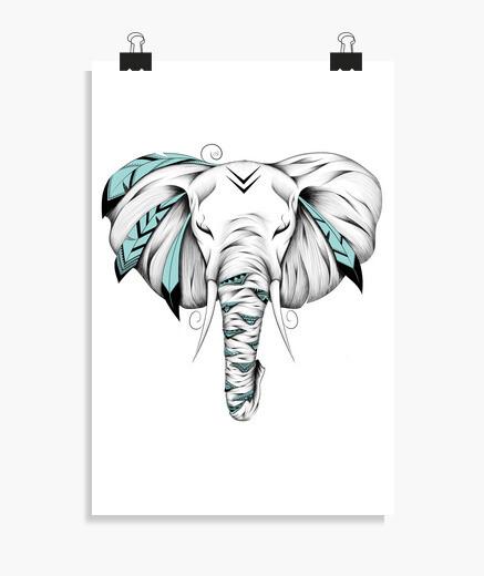 Póster elefante poético