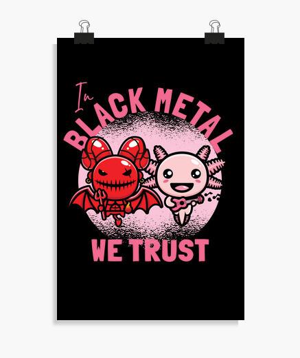 Póster en el black metal confiamos