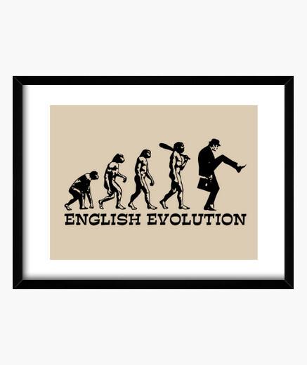 English evolution framed print