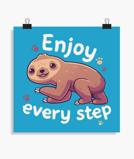Póster Enjoy Every Step