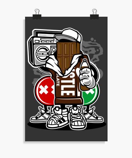 Poster équipe de chocolat