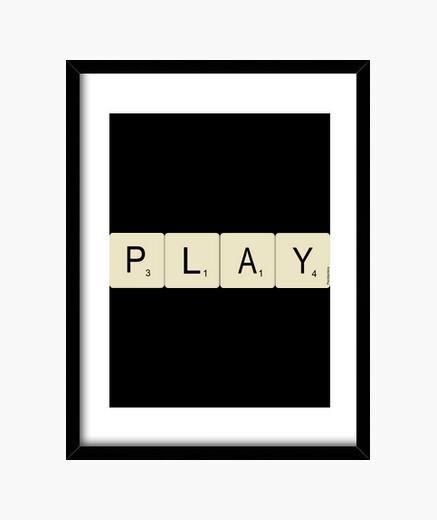 Escrabble play framed print