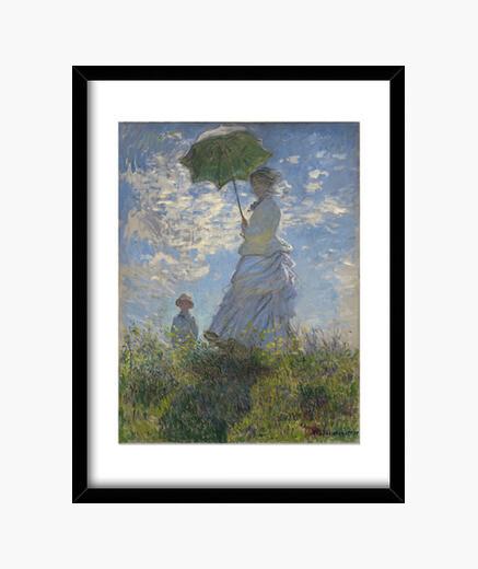 Cadre femme avec un parasol (1875)