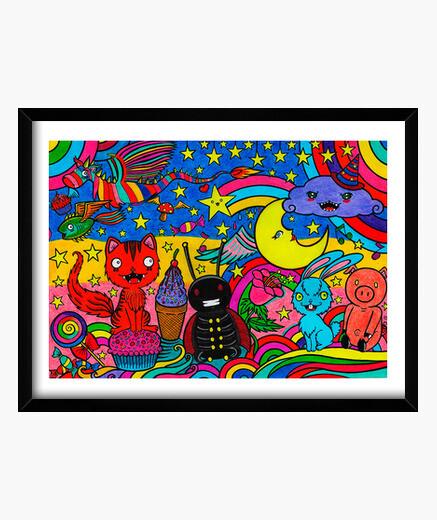 Cadre fête de la couleur, image encadrée.
