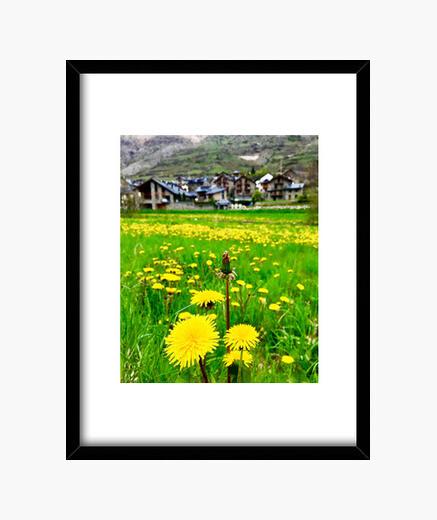 Field - frame with black vertical frame 3: 4 (15 x 20 cm) framed print