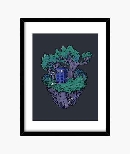 Forest box framed print