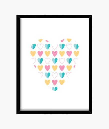 Cuadro Full of hearts