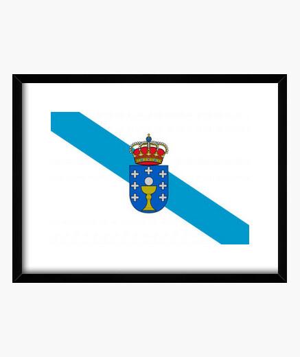 Galicia Cuadro con marco negro horizontal 4x3