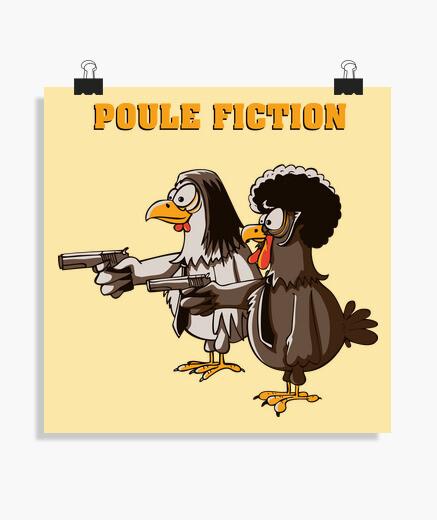 Póster gallina de ficción