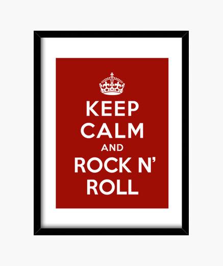 Cadre garder le calme et le rock & roll