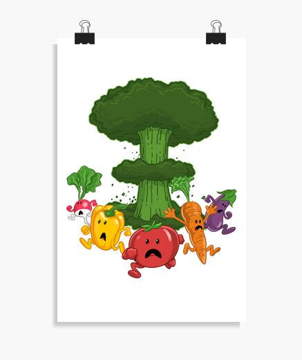 Poster Gemüse Armageddon