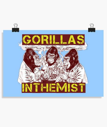 Póster GORILLAS IN THE MIST