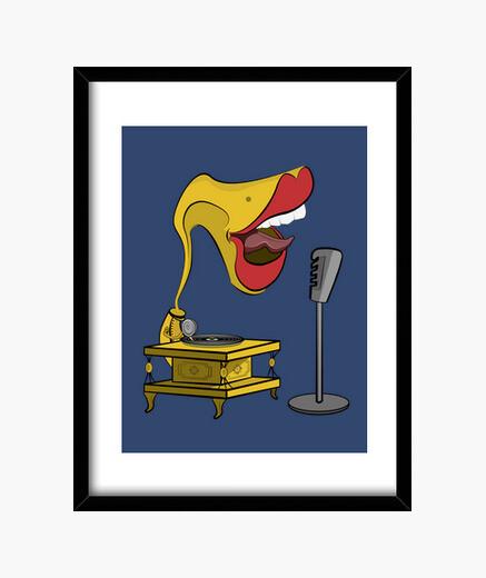Cuadro Gramola cantando