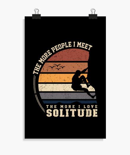 Poster grimper dans la solitude
