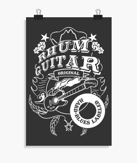 Póster guitarra de ron