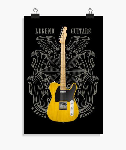 Póster Guitarra eléctrica fender telecaster