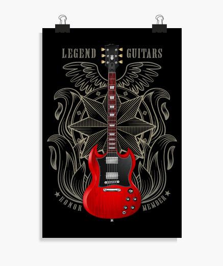 Póster Guitarra eléctrica legendaria SG