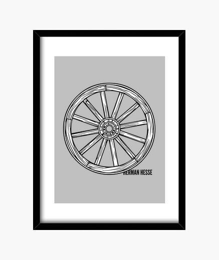 Cuadro Herman Hesse  Bajo las ruedas