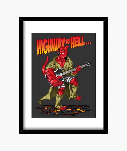 Cuadro highway to hell (niño)