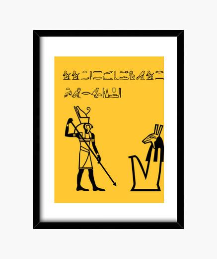 Cuadro Horus-Montoya jeroglífico
