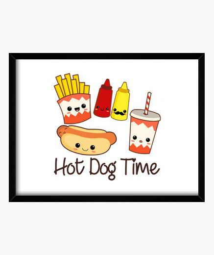 Cuadro Hot Dog Time