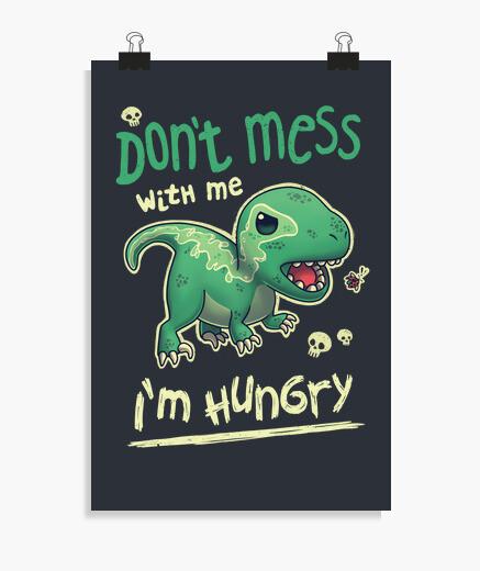 Póster Hungry Raptor