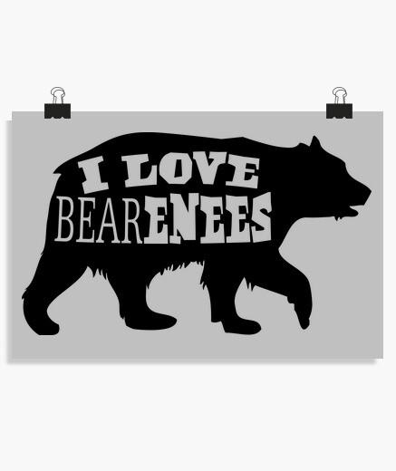 Poster I Love Bear enees