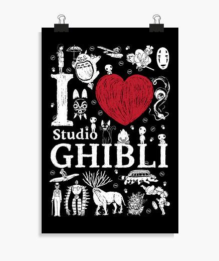 Póster I love Ghibli