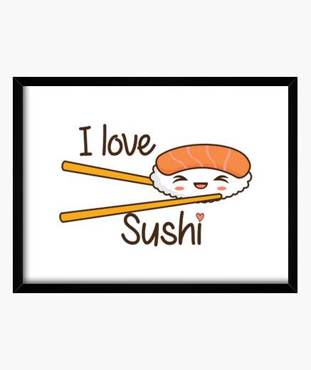 Quadro i love il sushi
