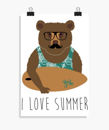 Póster I love summer
