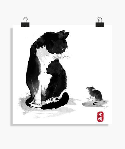 Poster il gattoto un il little topo