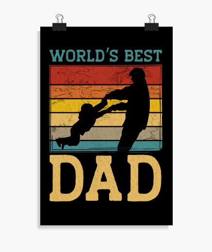 Poster il miglior papà del mondo retrò