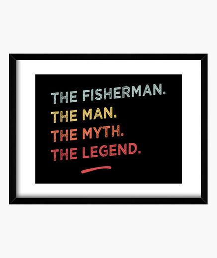 Quadro il pescatore il mito la legend
