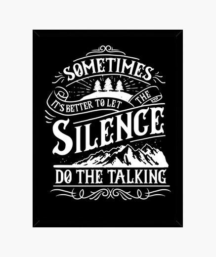 Cadre image rétro permet au silence de parler