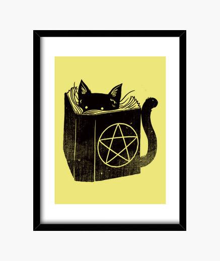 Cuadro impresión del gato brujería