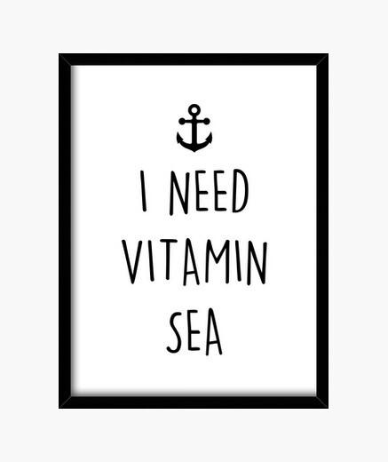 Cadre j39ai besoin de vitamine mer