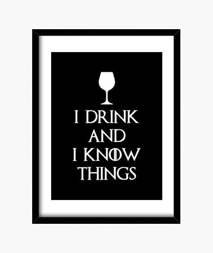Cadre je bois et je sais que les choses