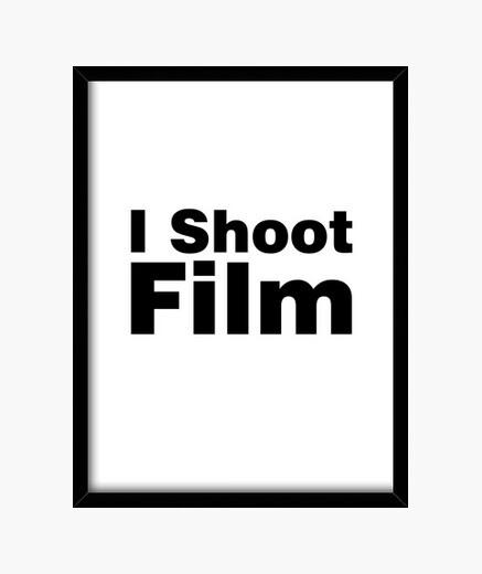 Cadre je filme un film (fond blanc)