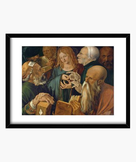 Cadre jésus parmi les médecins (1506)
