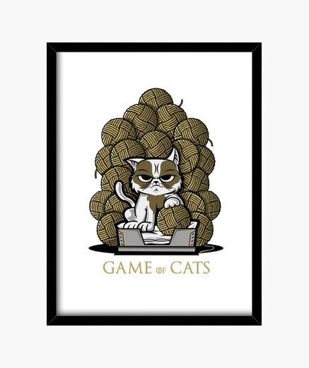 Cadre jeu de chats